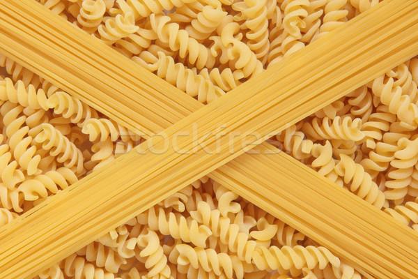 Fusilli Pasta and Spaghetti Stock photo © marilyna