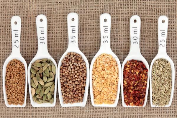 スパイス 測定 白 メトリック 食品 ストックフォト © marilyna