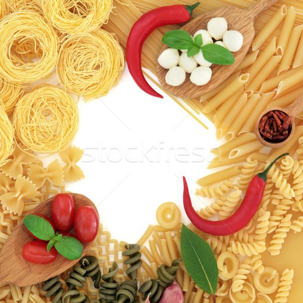 Mediteranean Food Border Stock photo © marilyna
