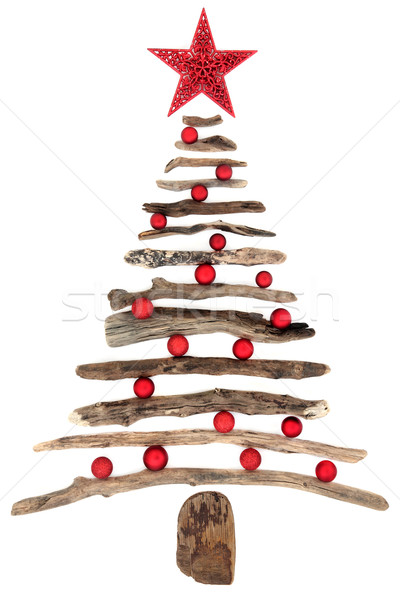 Abstract Driftwood Christmas Tree Stock photo © marilyna