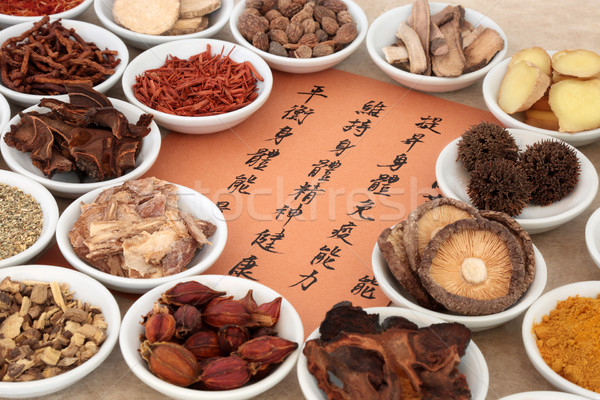 Chinese Herb Selection Stock photo © marilyna