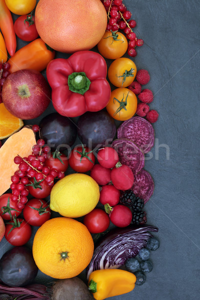 Healthy Super Food Background Border Stock photo © marilyna