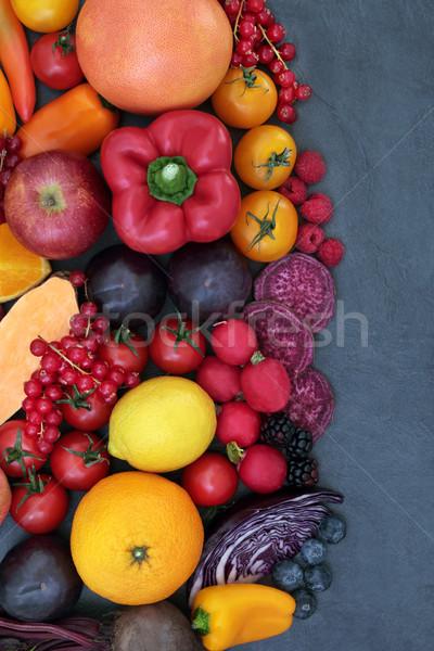 Sani super alimentare confine frutta vegetali Foto d'archivio © marilyna