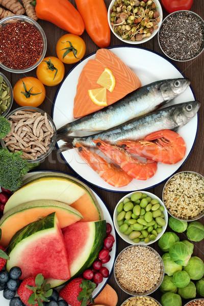 健康食 食品 新鮮な シーフード フルーツ 野菜 ストックフォト © marilyna