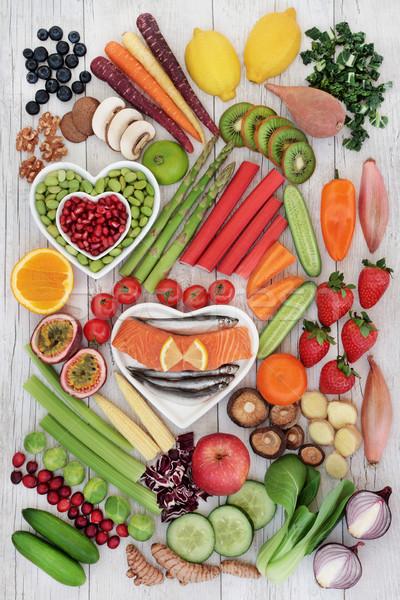 Groot collectie goede gezondheid vers vis Stockfoto © marilyna