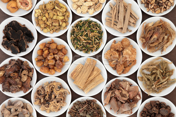Foto stock: Chinês · ervas · grande · branco · China