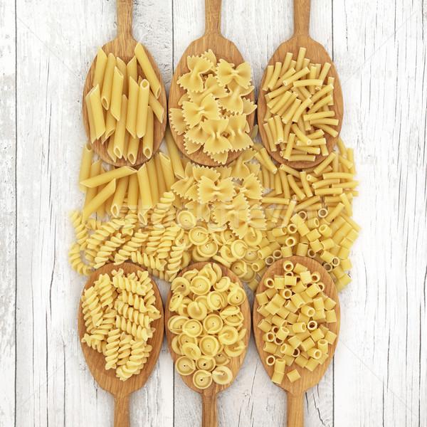 Foto d'archivio: Pasta · rovere · legno · essiccati · alimentare
