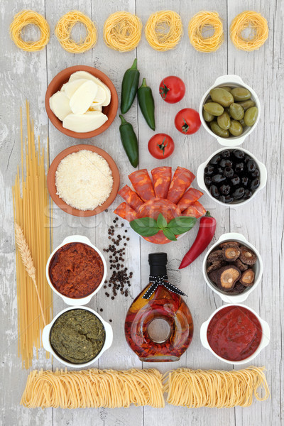 Italian Food Selection Stock photo © marilyna