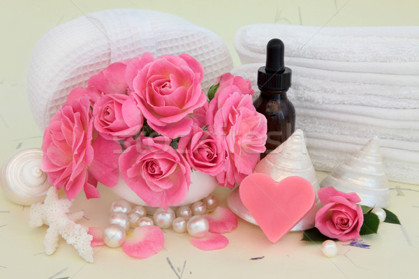 Rose Spa Accessories Stock photo © marilyna