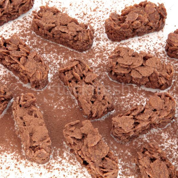 チョコレート ぱりぱり ビスケット 白 背景 ストックフォト © marilyna