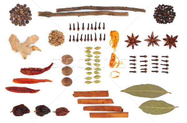 Spice and Herb Selection Stock photo © marilyna