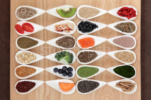 Santé alimentaire super blanche Photo stock © marilyna