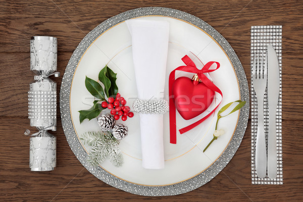Christmas Bling Place Setting Stock photo © marilyna