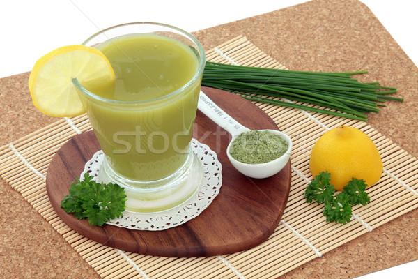 小麦 草 健康 ドリンク 新鮮な ストックフォト © marilyna