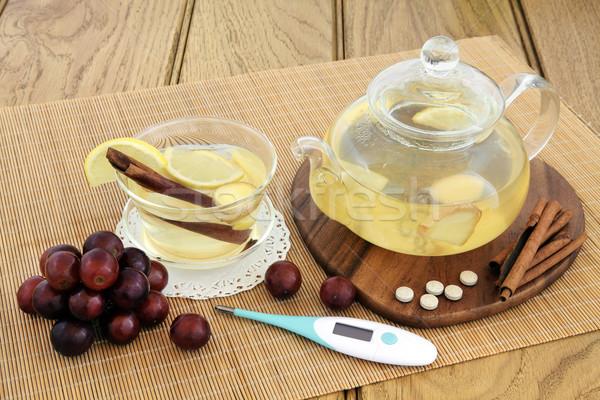 Comida beber frio quente limão Foto stock © marilyna