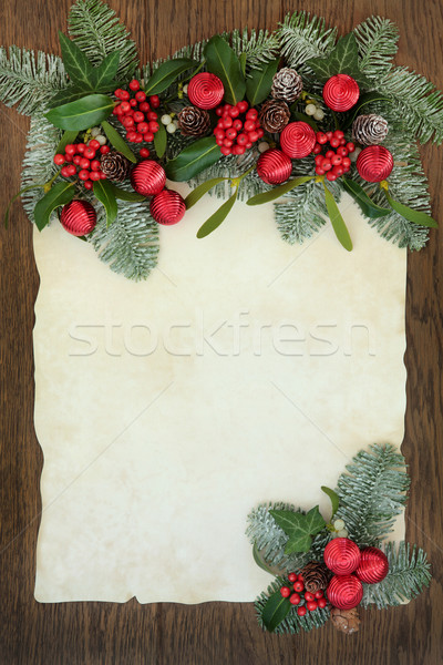 Foto d'archivio: Natale · confine · abstract · rosso · flora · vischio