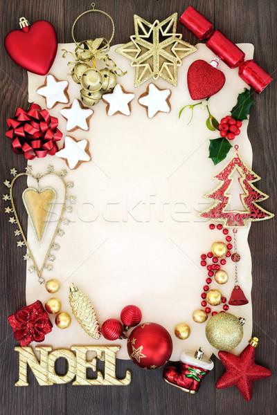 Noel Sign and Christmas Symbols Stock photo © marilyna