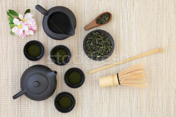 Sencha Sukiygu Makoto Japanese Tea Stock photo © marilyna