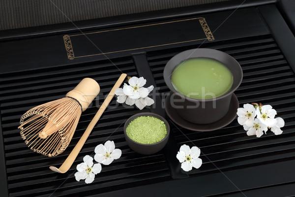 зеленый чай Японский Кубок черпать Сток-фото © marilyna