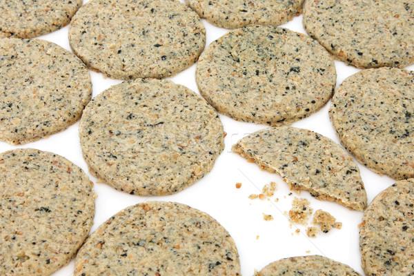 Sarriette biscuits une blanche Photo stock © marilyna