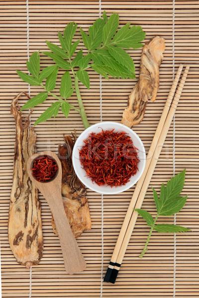 Zafferano cinese Spice erbe radice Foto d'archivio © marilyna