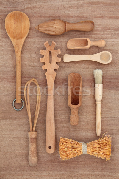 Rustic Kitchen Utensils Stock photo © marilyna