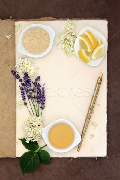 Lavender and Elderflower Champagne Stock photo © marilyna