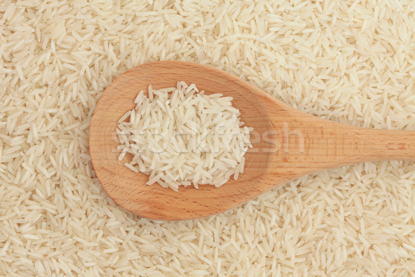 Basmati rijst voedsel achtergrond lepel Stockfoto © marilyna