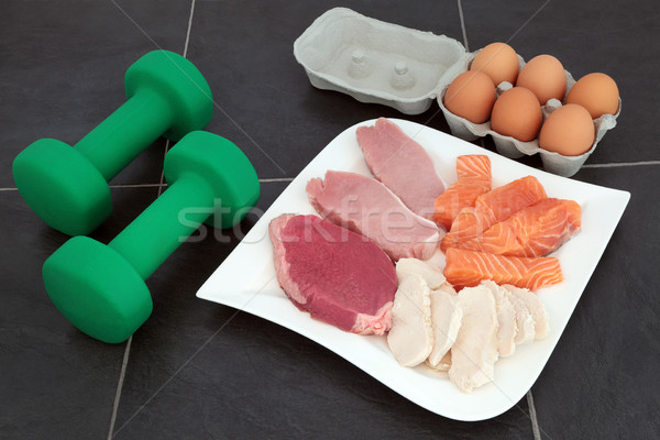 High Protein Food for Body Builders Stock photo © marilyna