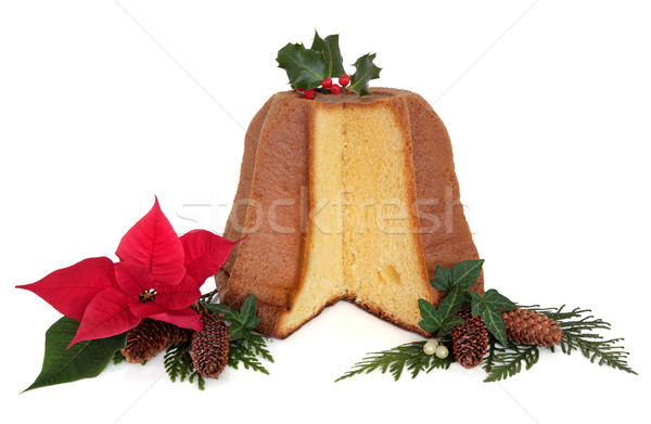 Pandoro Christmas Cake Stock photo © marilyna