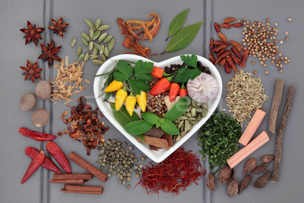 Spice and Herb Sampler Stock photo © marilyna