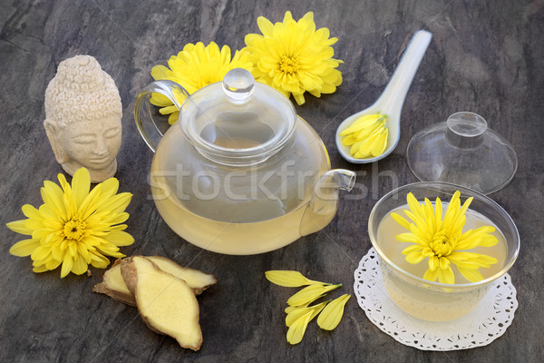 Chrysanthemum Herb Flower Tea Stock photo © marilyna