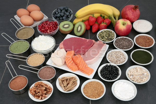 Body Building Health Food Selection Stock photo © marilyna