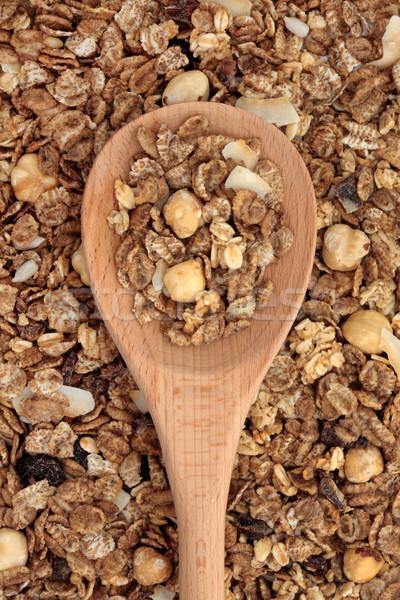 мюсли сухих завтраков завтрак ложку семени Сток-фото © marilyna