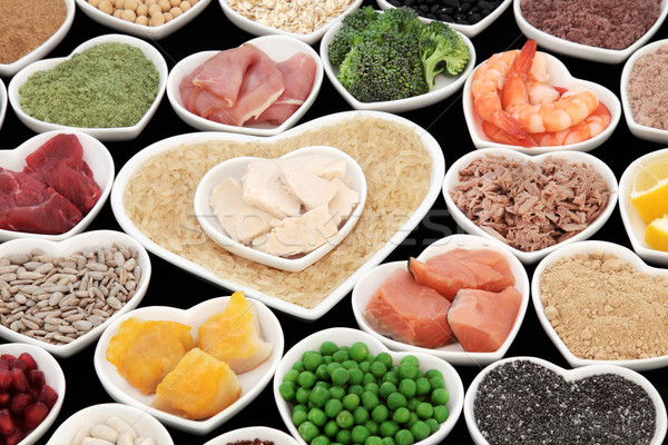 Dieta saudável comida saúde super peixe carne Foto stock © marilyna