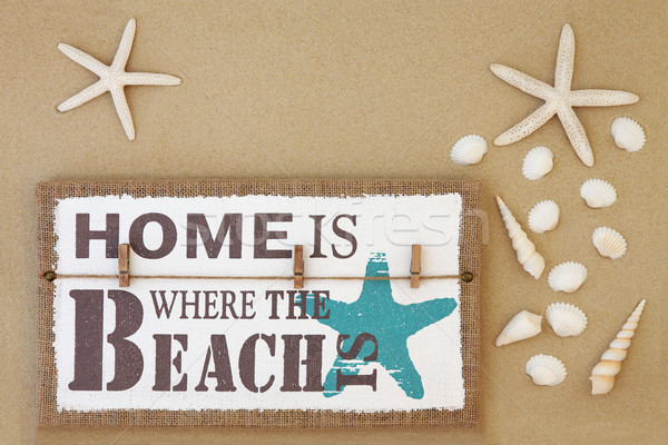 Home Is Where the Beach Is Stock photo © marilyna