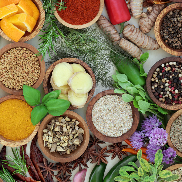 Stock photo: Spice and Herb Selection