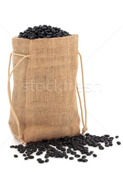 Nero fagioli bean bianco salute Foto d'archivio © marilyna