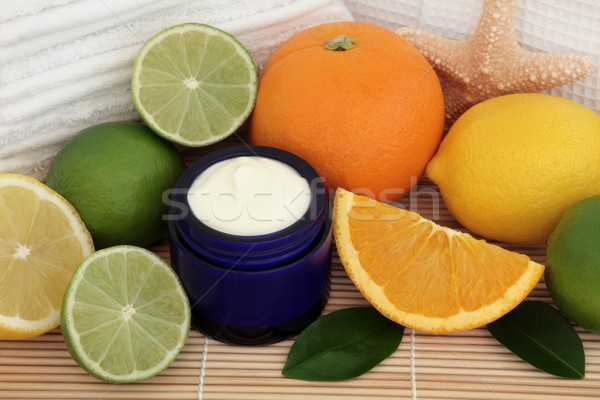 Citrus fruit spa badkamer citroen oranje Stockfoto © marilyna