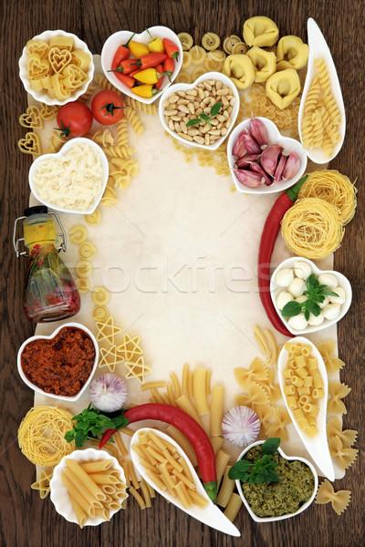 Сток-фото: итальянская · кухня · итальянский · пасты · продовольствие · Ингредиенты · аннотация