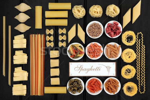 Italian Spaghetti Pasta Sampler Stock photo © marilyna