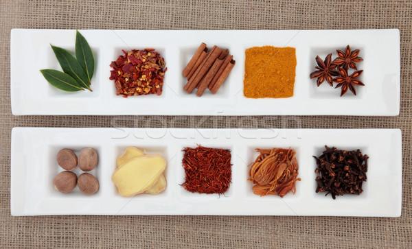 Spice Sampler Stock photo © marilyna