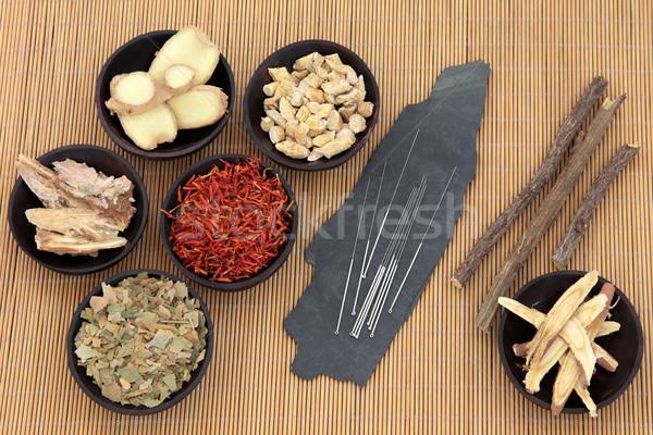Zdjęcia stock: Opieki · zdrowotnej · muzyka · akupunktura · igły · chińczyk
