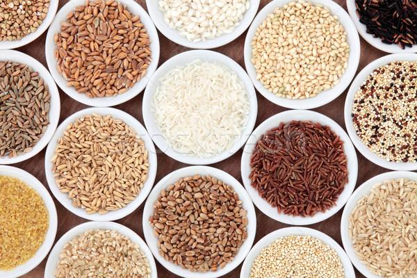 Tahıl tahıl gıda beyaz çanaklar Stok fotoğraf © marilyna