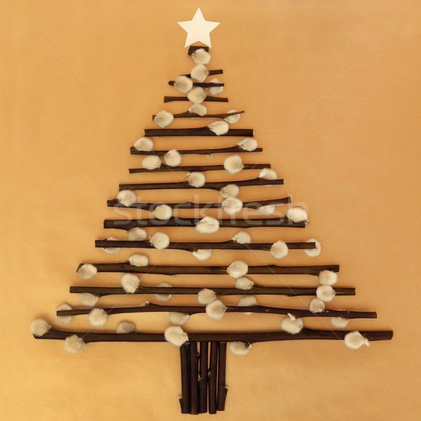 Рождества время аннотация рождественская елка дизайна киска Сток-фото © marilyna