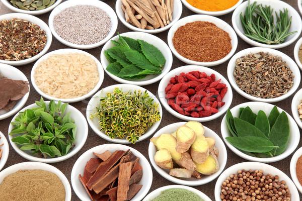 Stockfoto: Super · voedsel · gezondheid · kruid · Spice · porselein
