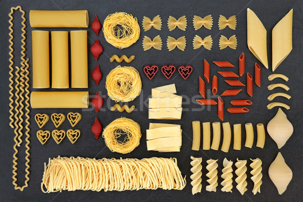 Dried Pasta Abstract Sampler Stock photo © marilyna