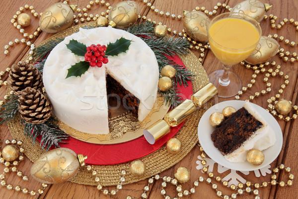 Christmas Cake Still Life Stock photo © marilyna