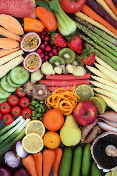 Eszik egészséges étel nagy promótál jó egészség Stock fotó © marilyna