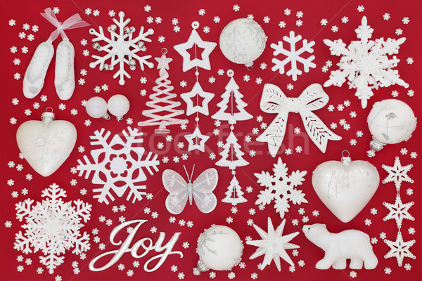 Christmas Joy Sign and Decorations Stock photo © marilyna